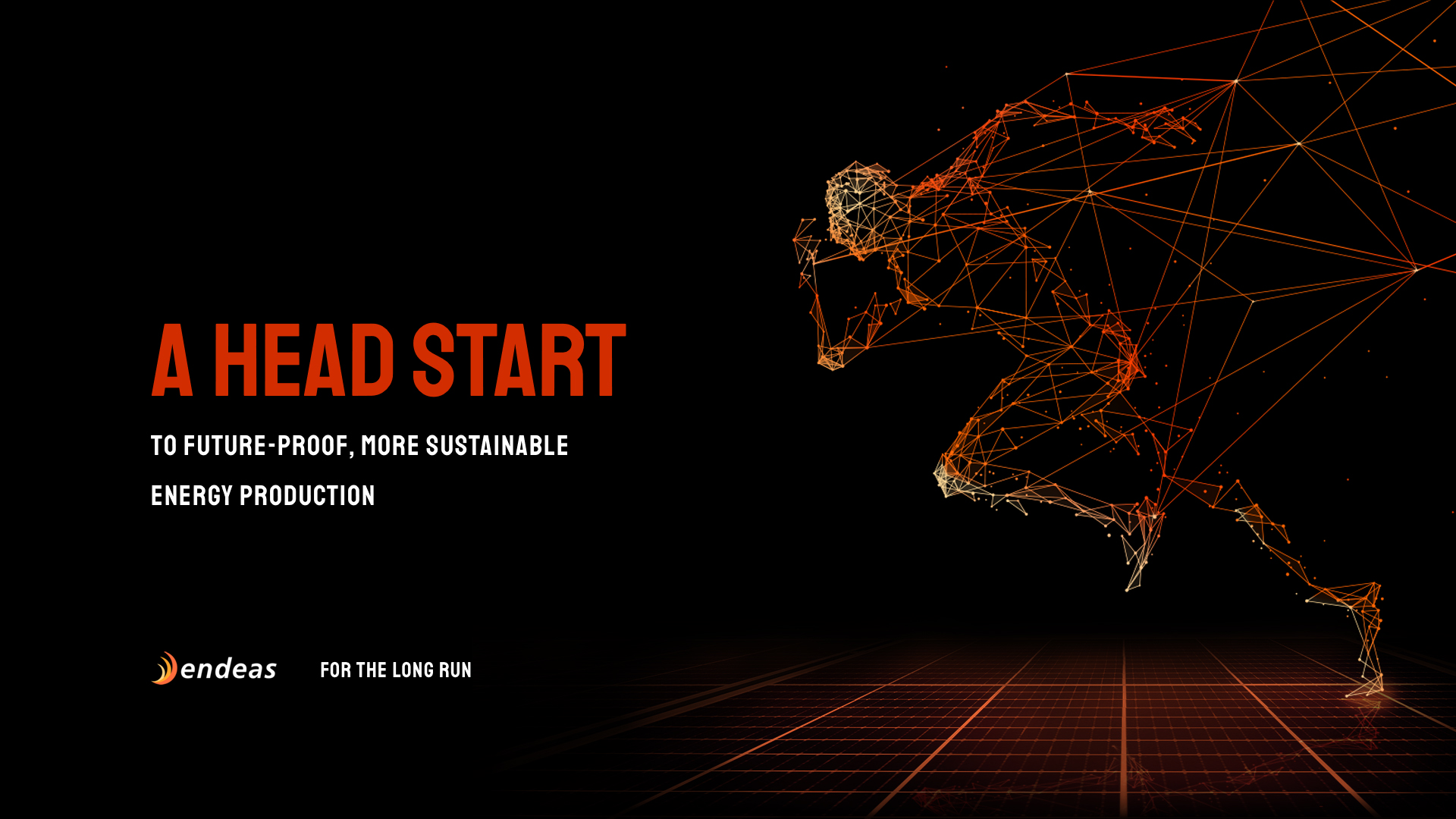 Endeas brand image - A head start to future-proof, more sustainable energy production